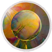 Easter Orb Round Beach Towel by Robin Moline