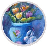 Easter Still Life Round Beach Towel