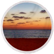 Easter Sunset Round Beach Towel by Amar Sheow