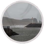 Easterly Swell Round Beach Towel