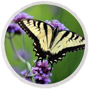 Eastern Tiger Swallowtail Butterfly 2014 Round Beach Towel