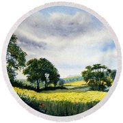 Eastfields From Woldgate Round Beach Towel