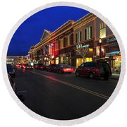 D65l-123 Easton Town Center Photo Round Beach Towel