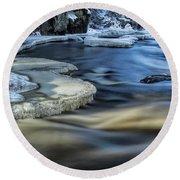 Eau Claire River Ice Round Beach Towel