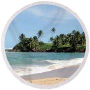 Round Beach Towel featuring the photograph Ebb Tide by Deborah  Crew-Johnson