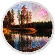 Echo Lake Round Beach Towel