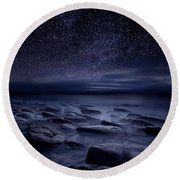 Echoes Of The Unknown Round Beach Towel