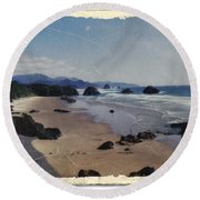 Ecola 1 Round Beach Towel by Chalet Roome-Rigdon