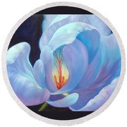 Round Beach Towel featuring the painting Ecstasy by Sandi Whetzel
