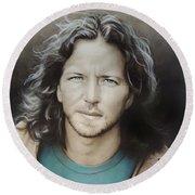 Eddie Vedder Round Beach Towel