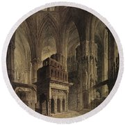 Edward The Confessors Shrine, Westminster Abbey Round Beach Towel