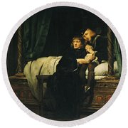 Edward V 1470-83 And Richard, Duke Of York In The Tower Les Enfants Dedouard 1830 Oil On Canvas See Round Beach Towel by Hippolyte Delaroche
