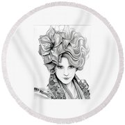 Effie Trinket - The Hunger Games Round Beach Towel