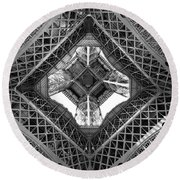 Eiffel Abstract Round Beach Towel