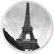 Eiffel Classic Round Beach Towel