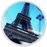 Eiffel In Motion Round Beach Towel