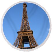Eiffel Tower 2005 Ville Candidate Round Beach Towel
