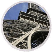 Eiffel Tower Round Beach Towel by Belinda Greb
