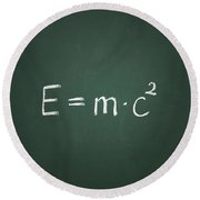 Einsteins Formula Round Beach Towel