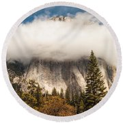El Capitan Round Beach Towel by Muhie Kanawati
