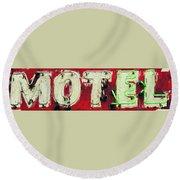 El Motel Round Beach Towel