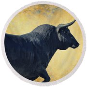 El Toro  Round Beach Towel by Mary Machare