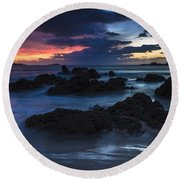 Round Beach Towel featuring the photograph El Villar Beach Galicia Spain by Pablo Avanzini