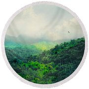 El Yunque National Rain Forest Round Beach Towel by Diana Angstadt