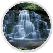 Elakala Falls Number 2 Round Beach Towel
