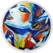Elation Round Beach Towel