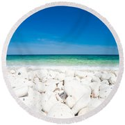 Elba - Capo Bianco  Round Beach Towel by Luciano Mortula