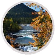 Elbow River View Round Beach Towel