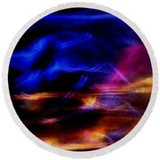 Round Beach Towel featuring the photograph Electric Chaos by Mike Breau