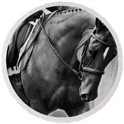 Elegance - Dressage Horse Round Beach Towel