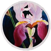 Round Beach Towel featuring the painting Elegance by Marilyn Jacobson