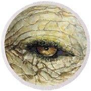 Elephant Eye Round Beach Towel by Bernadette Krupa