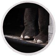 Elephant Toes Round Beach Towel by Bob Orsillo