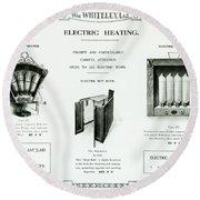 Eletric Heating, Wm Whiteley Ltd Round Beach Towel