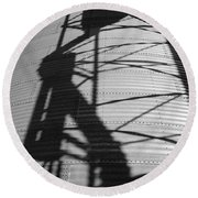 Elevator Shadow Round Beach Towel
