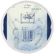 Eli Whitney's Cotton Gin Patent Round Beach Towel
