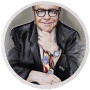 Elton John Round Beach Towel by Melanie D
