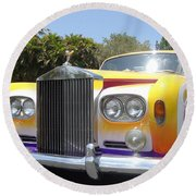 Elton John's Old Rolls Royce Round Beach Towel by Barbie Corbett-Newmin