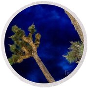 Elvis Blue Sunset Round Beach Towel