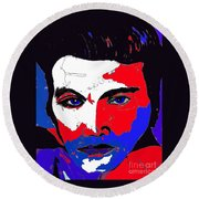 Elvis Made In The U S A Round Beach Towel