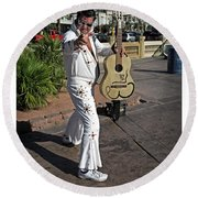 Elvis Presley Round Beach Towel by Edward Fielding