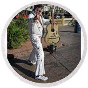 Elvis Presley Round Beach Towel