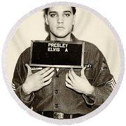 Elvis Presley - Mugshot Round Beach Towel