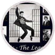 Elvis Presley - The Legend Round Beach Towel