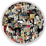 Elvis The King Round Beach Towel