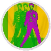 Round Beach Towel featuring the photograph Elvis Three 20130215 by Wingsdomain Art and Photography